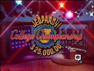 Jeopardy! College Championship Season 5 Logo