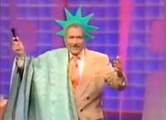 Alex Trebek as Statue of Liberty