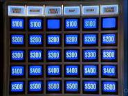 Jeopardy! 1985-1991 game board