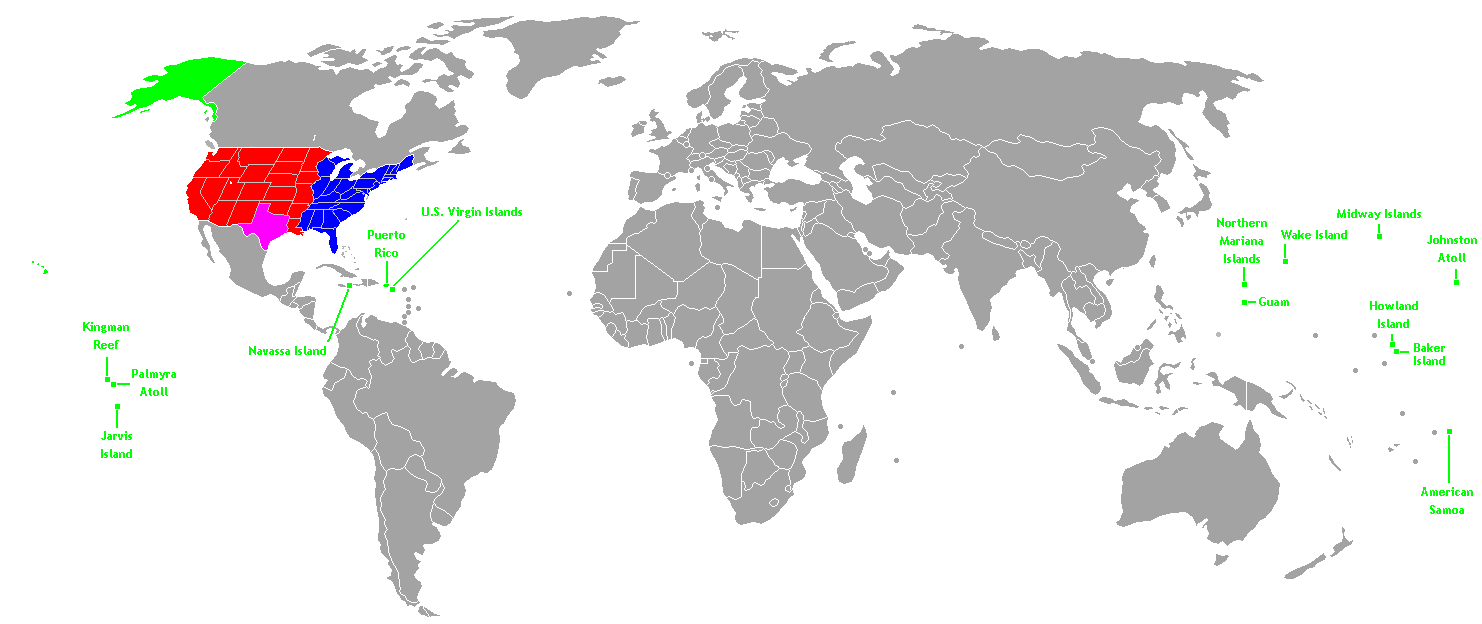 World Map Texas