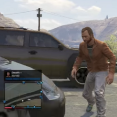 Mr. Sneak Man just a frame before he gets hit by a car that instantly kill him