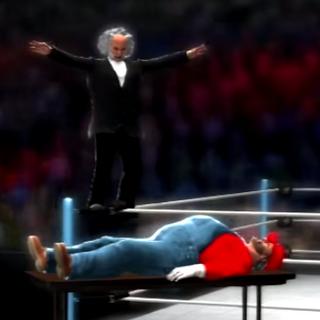 Mario Byeah about to get slammed by Martin Van Buren