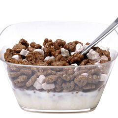 A bowl of Count Chocula cereal