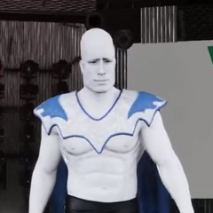 Glue Man in Vinewrestle 2019, wearing his custom-made cape for the event