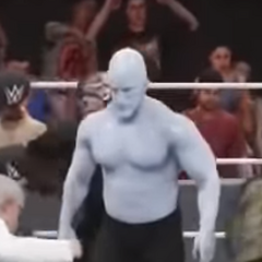 Glue Man in Jermania 2018, when his skin was slightly more blue than usual