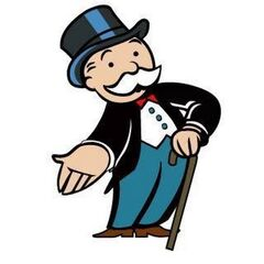 An image of the actual Monopoly Guy, Rich Uncle Pennybags