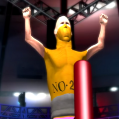 The Pencil celebrating his unfair victory in the Jerma Rumble 3 with the crowd booing