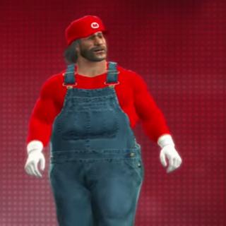 Mario Byeah looking around confused