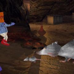 Rats stealing the ancient Mayan treasure from Dick Dastardly Richard