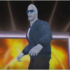 Gabe in his wrestling debut as