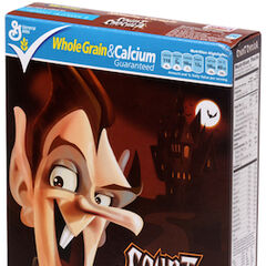 A box of Count Chocula cereal