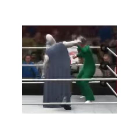 Glue Man attacking Grandpa