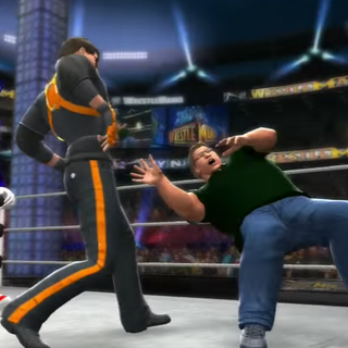 Freeman punching Gabe in the face while Sonic Watches