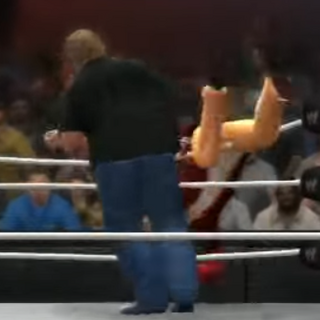 Gabe eliminating grandpa in Jerma Rumble 2