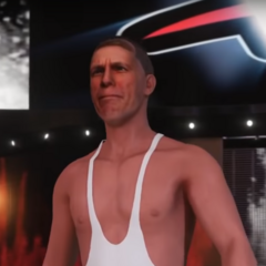 Jerma making his way to the ring as an old person in <a href=