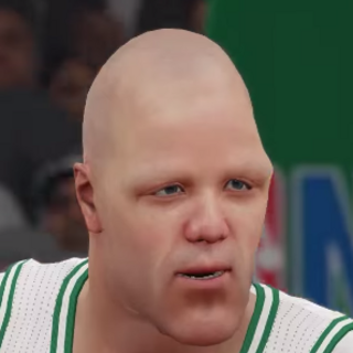Glue Man's face in the NBA video (around 10 years before the first Jerma Rumble)