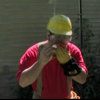 Burgah Boy eating a hamburger in the video