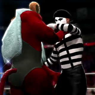 The Mime seconds before death at the hands of Zeraxos.