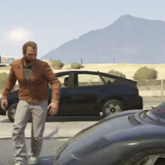 The second time Mr. Sneak Man wants to tell his name but he gets hit by a car and he gets instantly killed