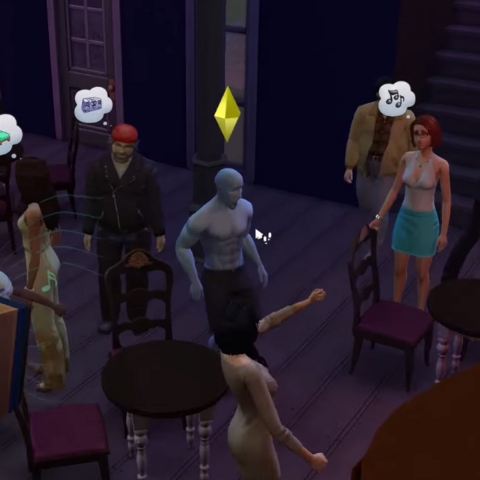 Glue Man with all his friends at the bar being the coolest guy of the group