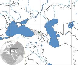 Asia location South Ossetia (with Georgia and Abkhazia)