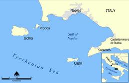 Capri and Ischia map