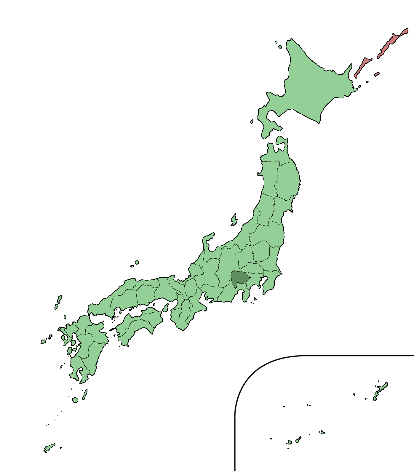 Yamanashi Prefecture WikiJET FANDOM Powered By Wikia - Japan map yamanashi