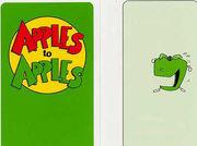 Green apples blank