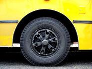 Yellow bus wheel
