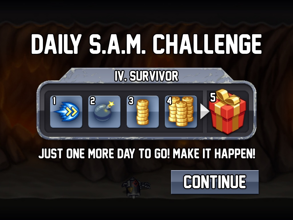 Sam jetpack joyride prizes for games