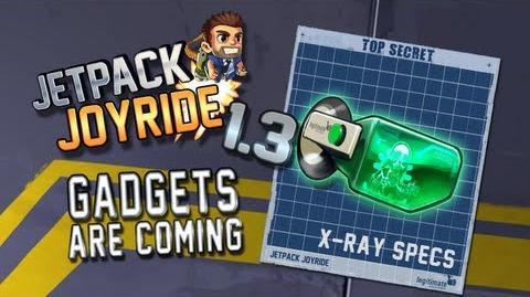 "Jetpack Joyride 1.3 - Gadgets Update ""X-Ray Specs"""