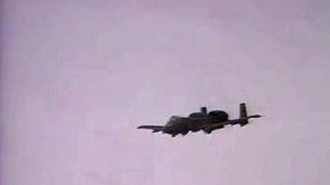 A10 Attack Run in Iraq