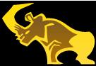 Golden rhino logo