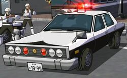 Police Car Front-Close Up 1
