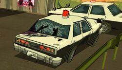 Police Car Rear-Damaged