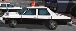 Police Car Left-Close Up 1