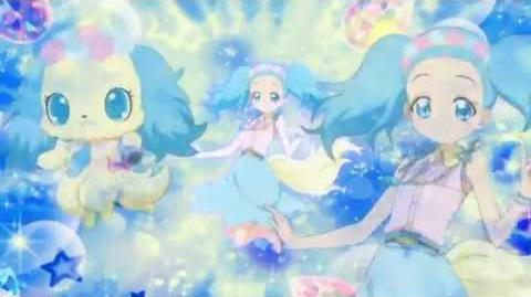 Jewelpet Magical Change Sapphie transformation & jewelflash-0