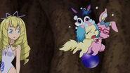 Sapphie hugs Luna