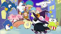 Labra encounters some Sanrio characters