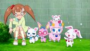 Airi and the jewelpets are shocked