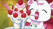 Labra eating ice cream