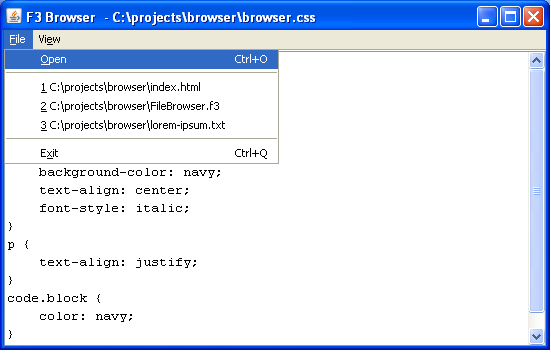 Browser-recent-files