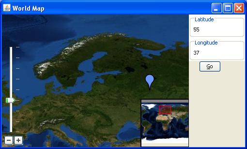 World map coordinats