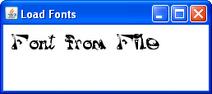 ExampleTextFontFromFile