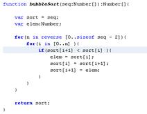Example algoritms
