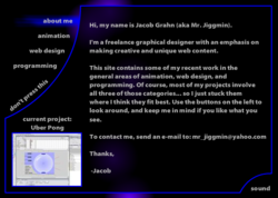 JacobGrahn.com Homepage 3