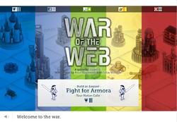 War of the Web - Armora Title Screen