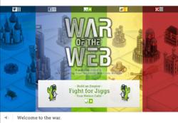 War of the Web - Jiggs Title Screen