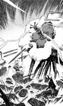 Kishikai Zhu Jin attacks Gabimaru