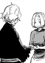 Mei helps Gabimaru